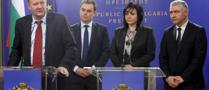 Михаил Миков след консултации при президента Плевнелиев - 8 март 2016 г.