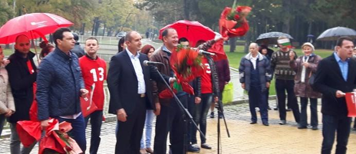Михаил Миков - предизбирен митинг в София - 16 октомври 2016 г.
