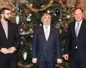 На прием в посолството на Русия с Негово превъзходителство посланик Анатолий Макаров и народния представител Стоян Мирчев - 29 декември 2016 г.